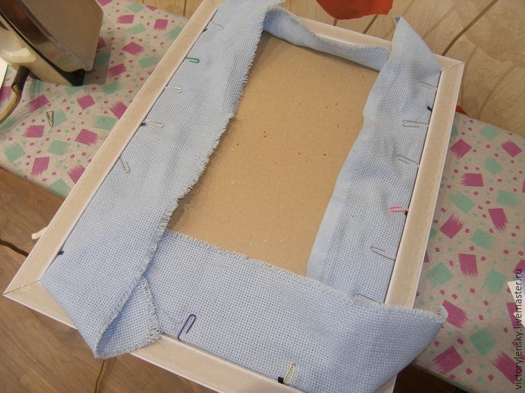 Оформление готовой вышивки в рамку, фото № 5