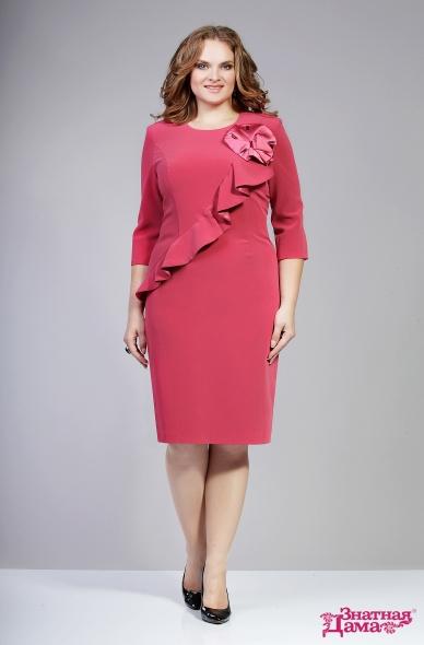 Розовые платья в полный