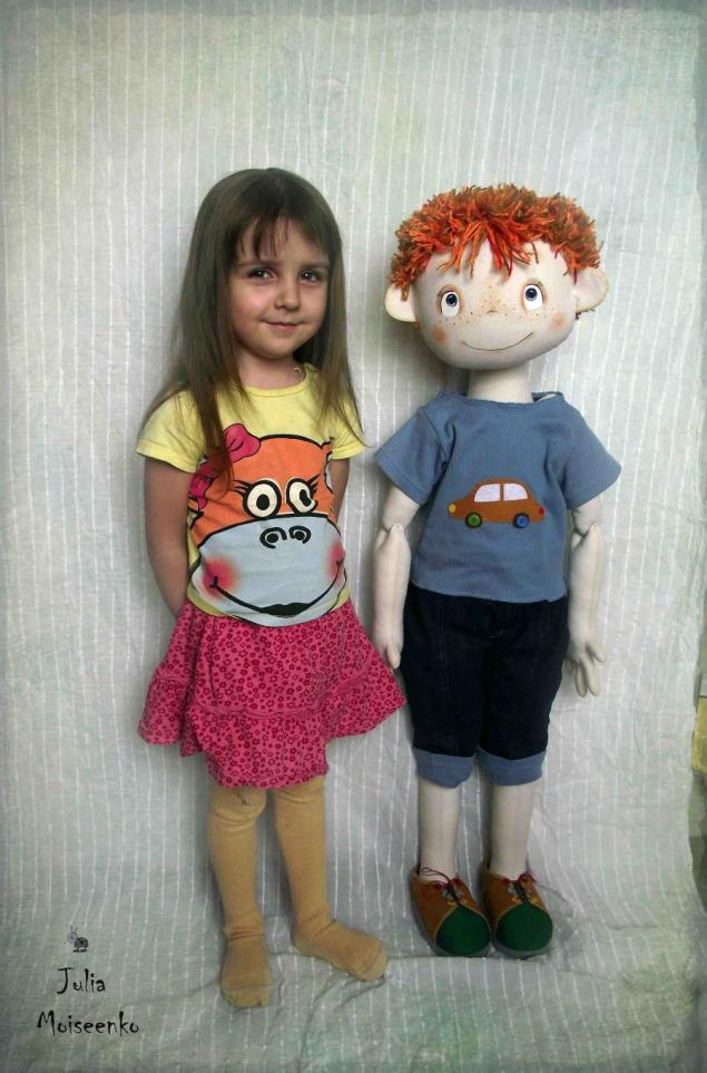 кукла, рыжий