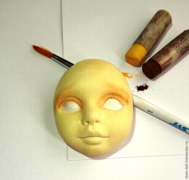 роспись лица кукле