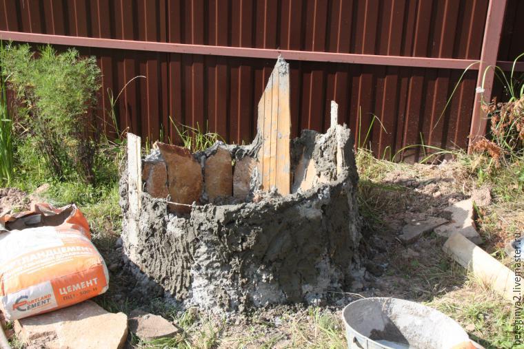 Пень из бетона своими руками 69