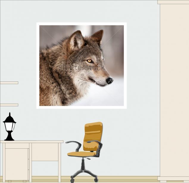 картина вязанная, портрет животного