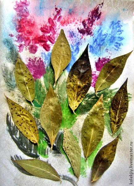 артбук, осенние листья, подарок