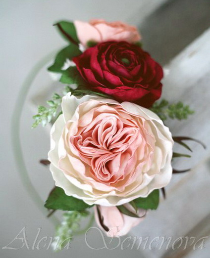 мк, цветы из фома, гортензия