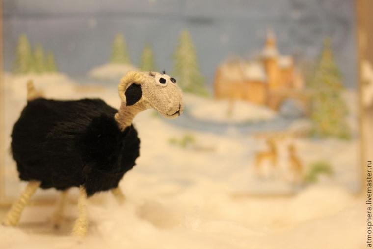акция, овца, елочная игрушка, досочка