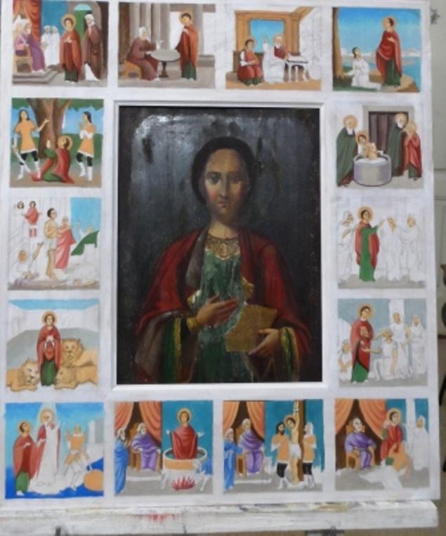Работа, реставрация, новый оклад для старой иконы., фото № 2