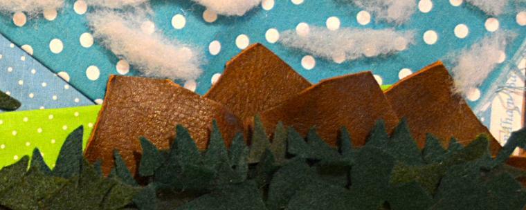 баннеры, для вдохновения, пейзаж из ткани