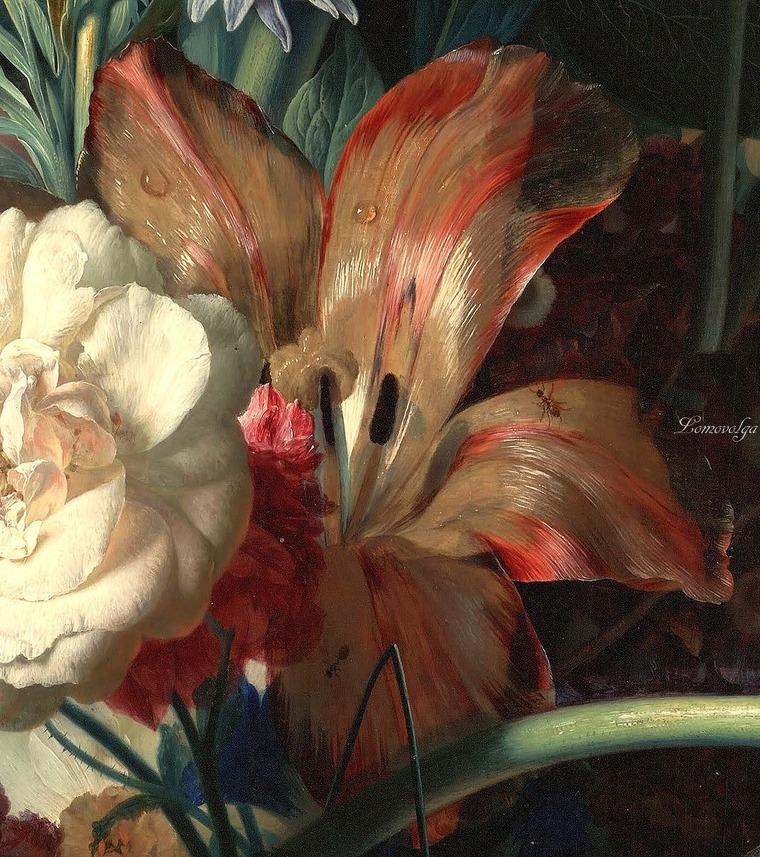 Ян ван хуйсум ваза с цветами