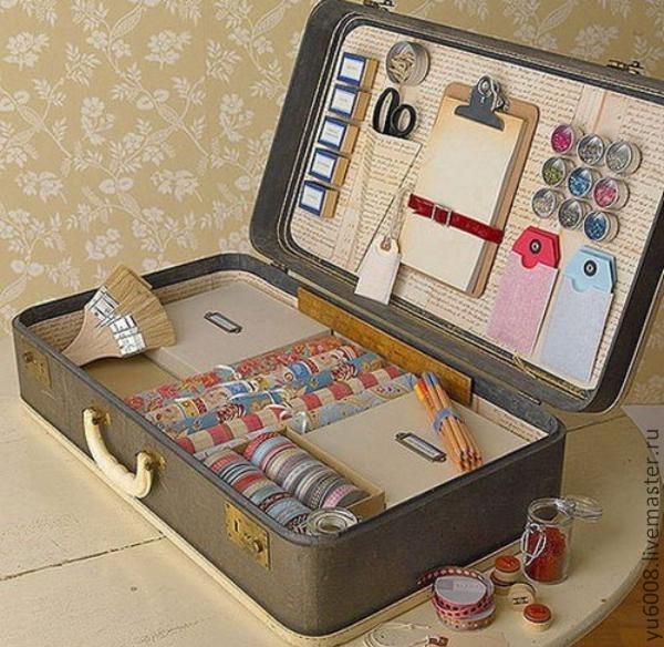 Декупаж старого чемодана своими руками мастер класс салфетками 51