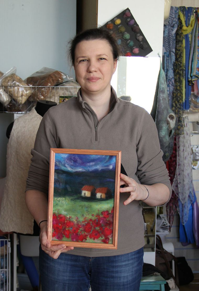 Отчет о мастер-классе Елены Панасик по живописи шерстью 19 марта, фото № 11