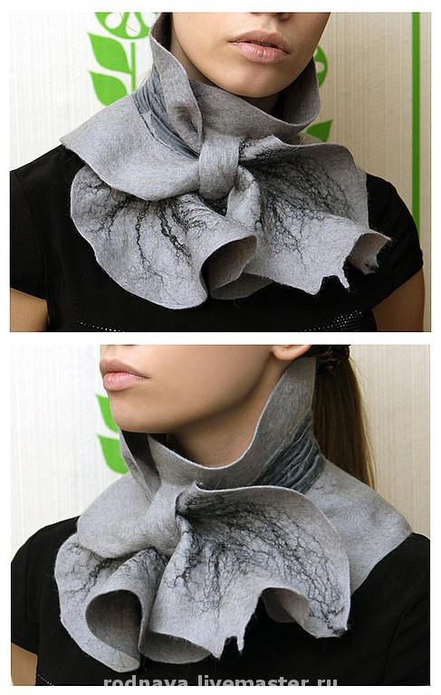 шерсти клок, мастер-класс по валянию, шарфик