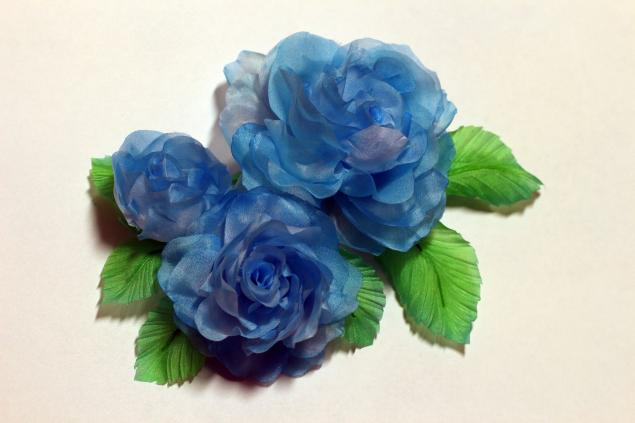 мастер-класс по цветам, цветы из шелка