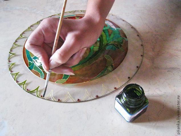 Воплощаем модерн в росписи по стеклу., фото № 20