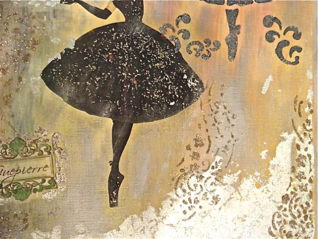 танец, танцовщица, художественный декупаж
