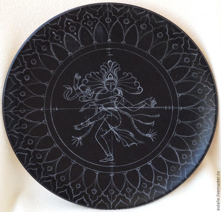 Мастер-класс по точечной росписи: тарелка-панно «танцующий Шива», фото № 5