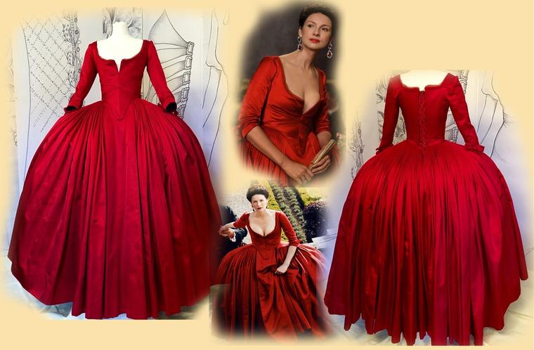 в красном платье прут