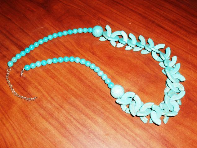 переделка, бусы, бирюза, ожерелье