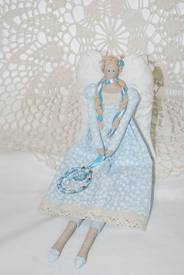 винтаж, винтажный ангел, тильда, текстильная кукла