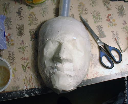 Как сделать маску из папье-маше поэтапно