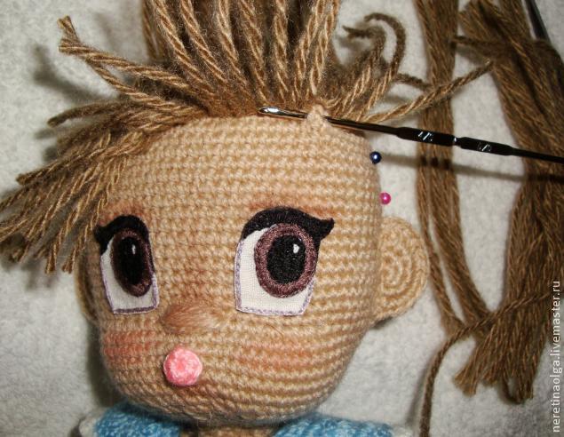как сделать прическу вязаной кукле мк обсуждение на Liveinternet