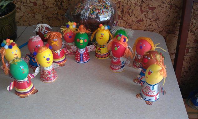 Пасхальные подставки для яиц в виде человечков. Готовимся к Пасхе! - Ярмарка Мастеров - ручная работа, handmade