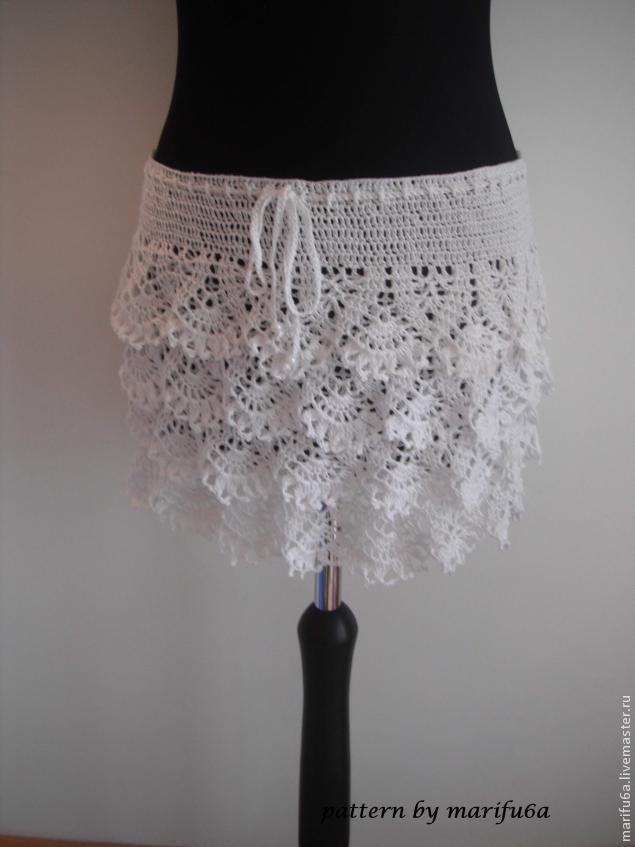 крючком юбка с воланами