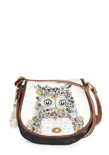 Once and Fleur Owl Bag, #ModCloth