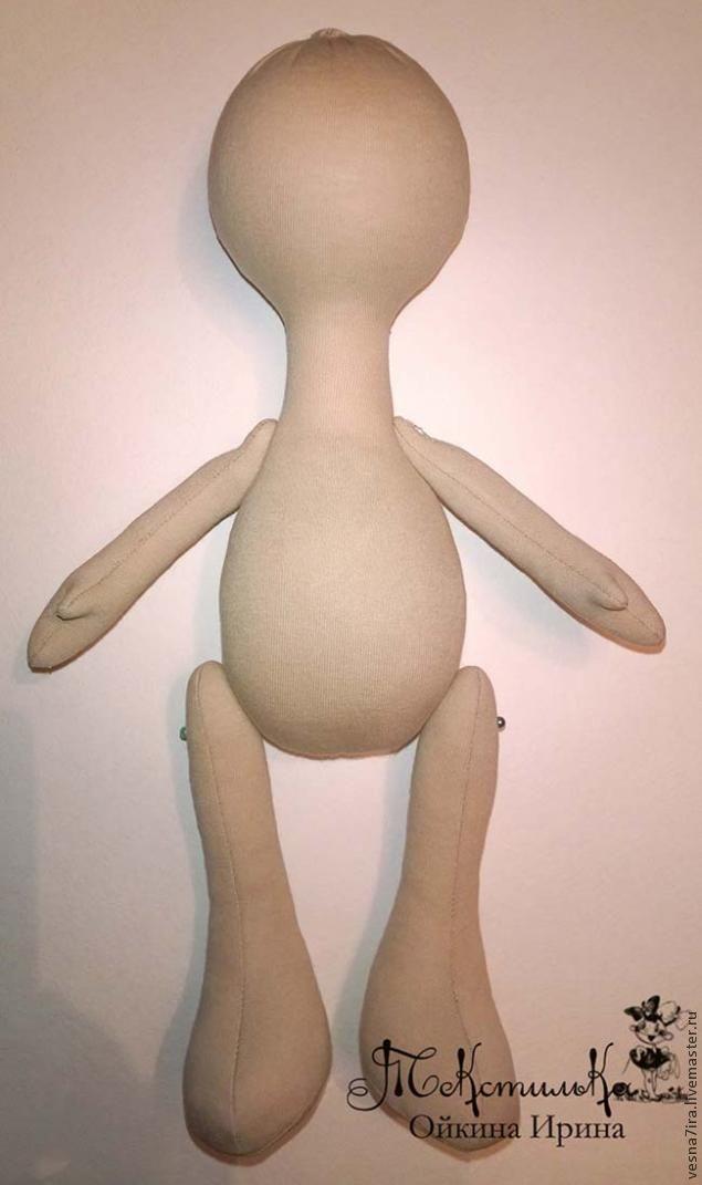 Выкройка куклы большеножки в натуральную величину