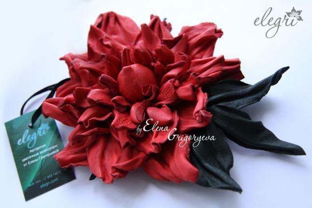 Цветы из кожи своими руками мастер класс с пошаговым фото