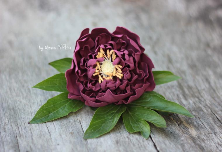 цветы ручной работы, мак