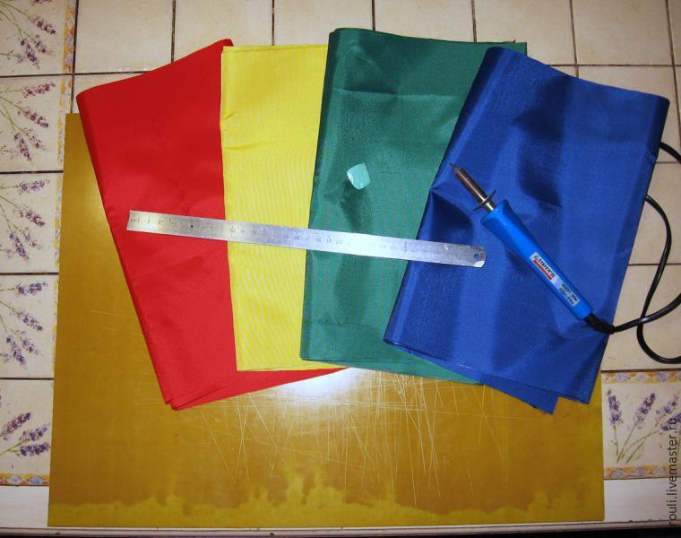 Флажки из ткани для детского сада своими руками