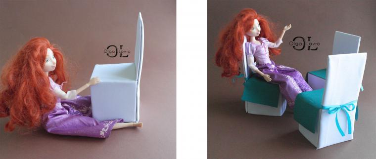 Мебель для куклы из проволоки 37