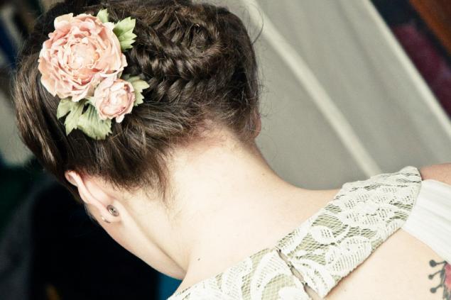 свадебные фото, платье ампир