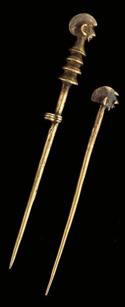 Africa   Bronze hairpins from the Bobo/Mossi people of Burkina Faso   400 € ~ sold