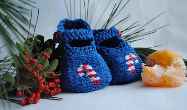 вязание, пинетки-туфельки, вязание спицами