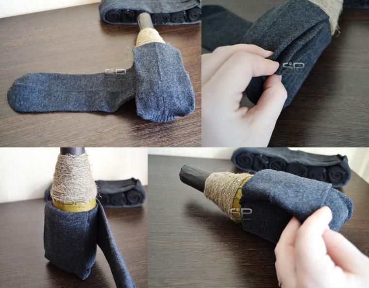 Как упаковать носки в подарок