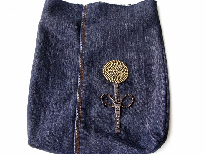 Как сделать маленькую джинсовую сумку