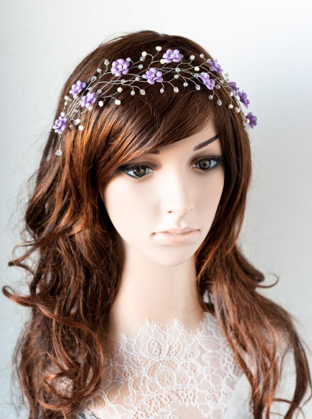 Венок для волос тиара _ дизайн 3_2, фото № 7