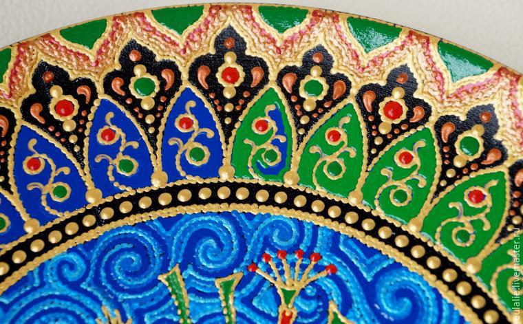 Мастер-класс по точечной росписи: тарелка-панно «танцующий Шива», фото № 21