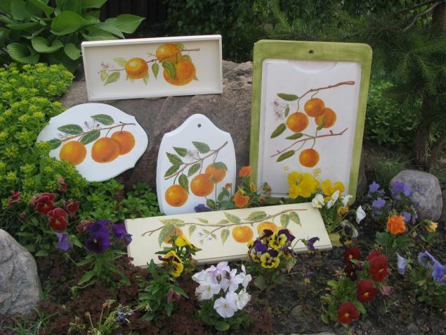 мастер-класс, роспись по дереву, роспись мебели, апельсин, живопись