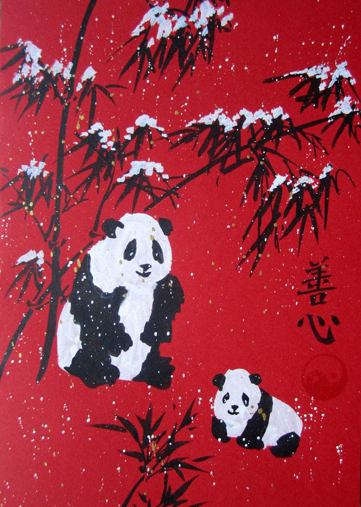 подарки своими руками, китайская живопись