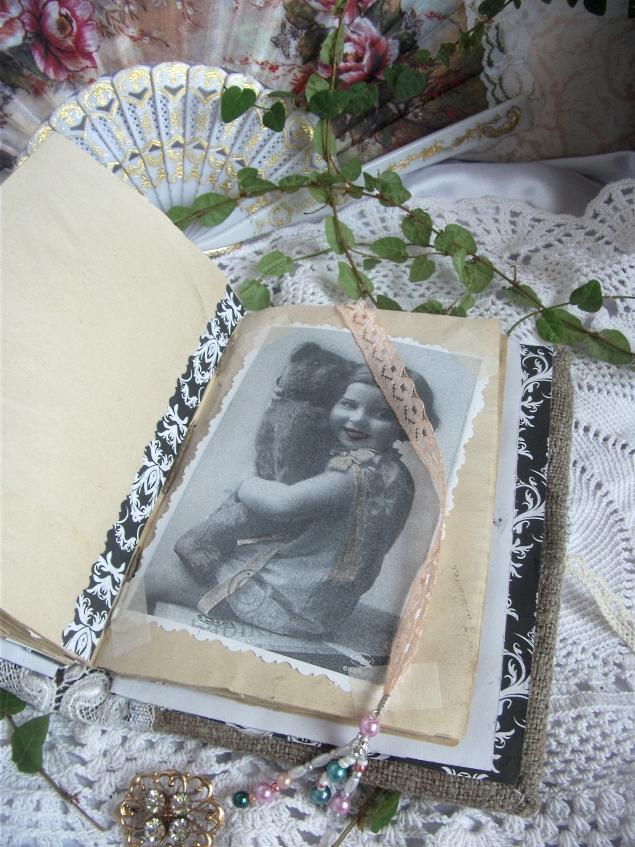 дневник, декорирование, ретро блокнот