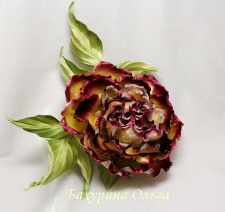 роза, брошь цветок, цветы из шелка, мастер класс, цветок из ткани