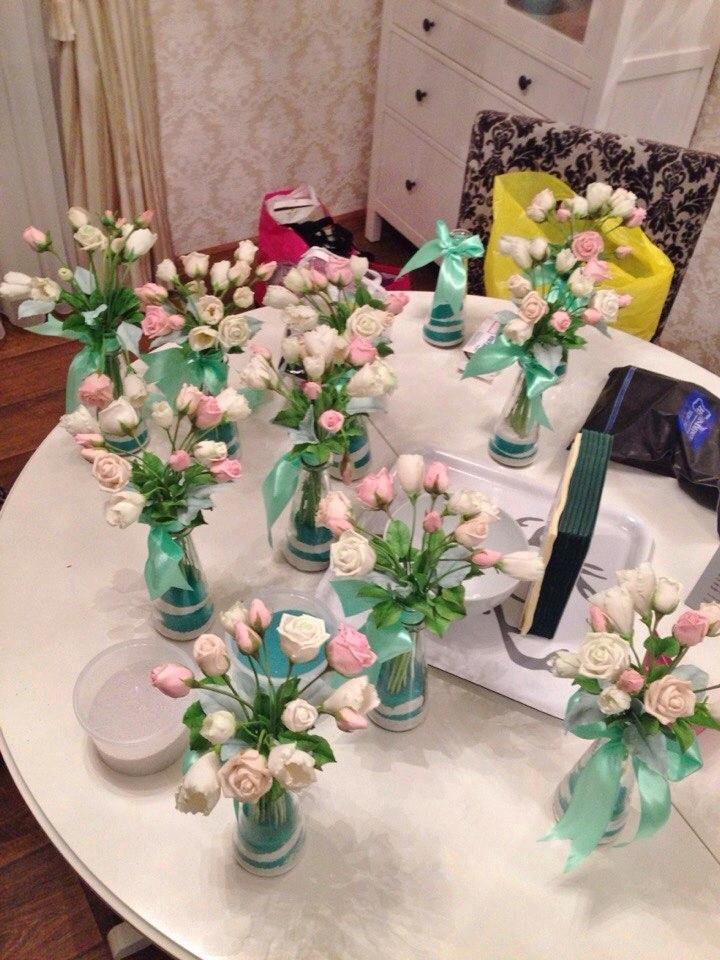 Букетики для декорации свадебного стола....., фото № 3