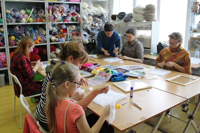 Отчет о мастер-классе Елены Панасик по живописи шерстью 19 марта, фото № 4