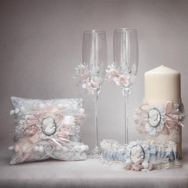 Декор бокалов на свадьбу мастер класс