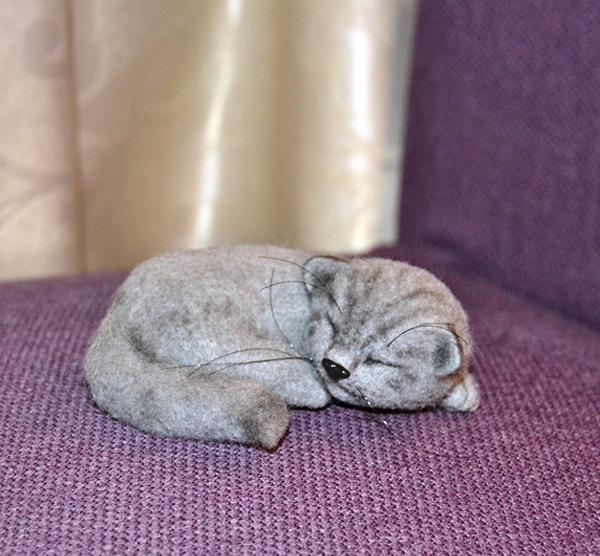 Котенок по технике валяния
