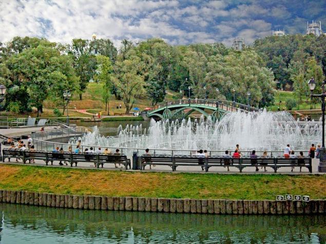 Осень в царицынском парке парк, небо, природа, осень, отражение, деревья, туман, царицыно, утро, пруд