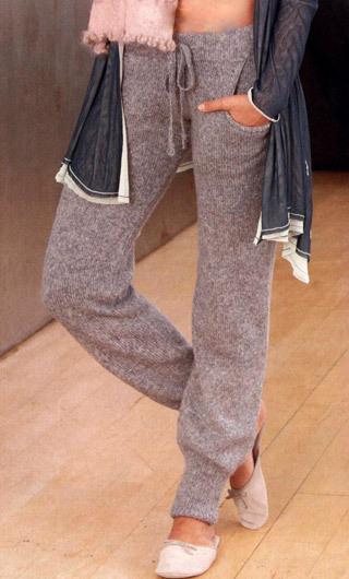 брюки спицами, молодежный стиль