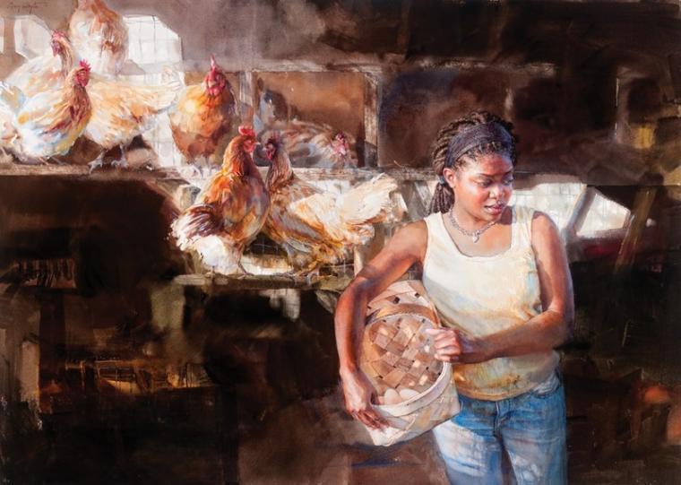 акварельная живопись, художница